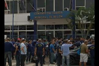 Guardas Municipais também fazem manifestação em Belém - O dia de paralisação foi para pedir entre outras coisas, reposição salarial e melhor estrutura de trabalho.