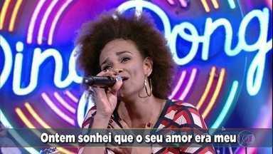 Luciana Mello canta 'Jóia Rara' - A cantora solta a voz no palco do 'Domingão'