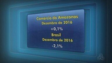 Vendas no comércio varejista do AM têm aumento em dezembro de 2016 - Dados são do IBGE.