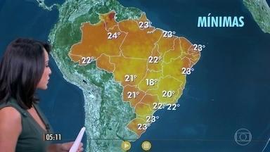 Confira a previsão do tempo para a quarta-feira (15) - Veja como fica o tempo em todo país.