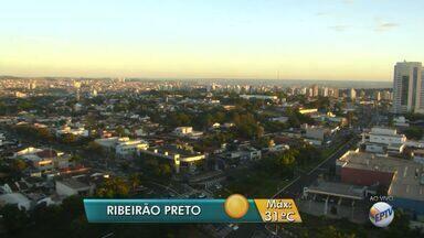 Veja a previsão do tempo para esta quarta-feira (15) em Ribeirão Preto, SP - Meteorologistas preveem temperatura máxima de 31ºC.