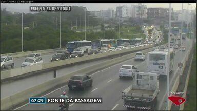 Confira as imagens do trânsito na Grande Vitória na manhã desta quarta-feira (15) - Câmeras mostram as principais vias da região metropolitana.