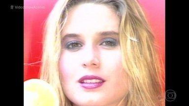 Paula Burlamaqui ganhou concurso 'Garota do Fantástico' há 30 anos - Veja as imagens da atriz no túnel do tempo!