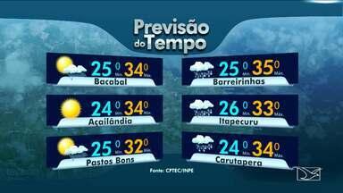 Veja a variação das temperaturas no Maranhão - Em São Luís a previsão do tempo para esta sexta-feira (17) será com nebulosidade.