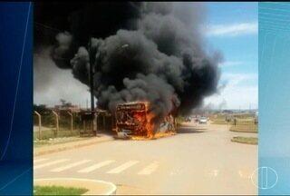 Depois de ônibus incendiados, Montes Claros tem metade da frota nas ruas nesta sexta (17) - População ficou assustada com presença dos bandidos.