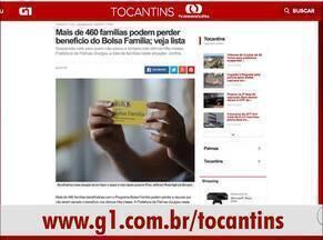 G1 Tocantins destaca risco da perda do Bolsa Família para mais de 460 famílias - G1 Tocantins destaca risco da perda do Bolsa Família para mais de 460 famílias