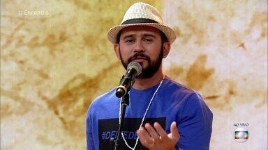 Poesia com Rapadura: Bráulio faz poema sobre gêneros - Poeta emociona a apresentadora, plateia e convidados do 'Encontro'