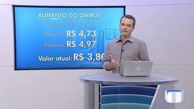 Empresas do transporte público em São José querem reajustar a tarifa - O valor máximo pedido chega a quase R$ 5.