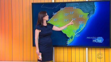 Tempo: tarde de sábado tem sensação térmica de 35ºC em Porto Alegre - Temporal pode chegar ao estado no fim da tarde.