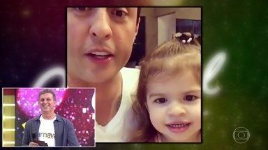 Ceará faz vídeo ensinando imitações à filha Valentina - Plateia cai no riso