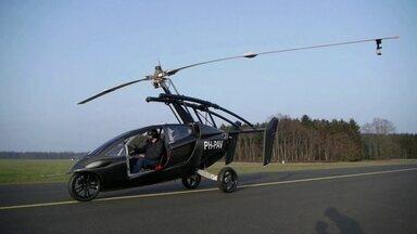 Holandeses criam carro voador PAL-V, que começa a ser vendido em 2018 - Ele voa a três mil metros do chão, mais ou menos 1/3 da altura alcançada por um avião comercial e com autonomia de voo para ir do Rio a São Paulo.
