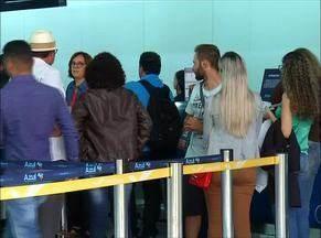 Cancelamento de voos provoca tumulto em aeroporto de Palmas - Cancelamento de voos provoca tumulto em aeroporto de Palmas