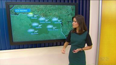 Previsão de tempo instável no norte do estado - Segundo a meteorologia, as temperaturas permanecem altas.
