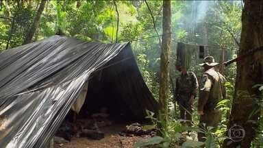 Polícia do Paraná descobre mais de 50 acampamentos de caçadores - Agentes foram recebidos a tiros em um dos acampamentos no Parque Nacional do Iguaçu. Os caçadores conseguiram fugir.