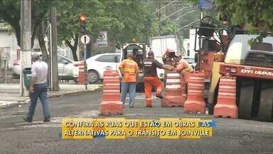 Ruas de Joinville estão em obras; confira alternativas para o tráfego - Ruas de Joinville estão em obras; confira alternativas para o tráfego