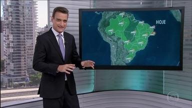 Veja a previsão do tempo para esta quarta-feira (1) em todo o Brasil - Em Minas Gerais, o mês de março começa bastante molhado. Um corredor de umidade vindo do Amazonas contribui para as pancadas em todo o Brasil.