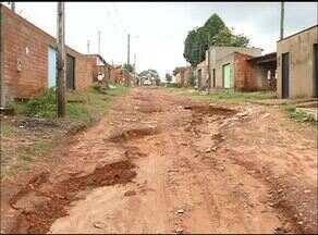 Moradores denunciam rua sem asfalto em Araguaína - Moradores denunciam rua sem asfalto em Araguaína