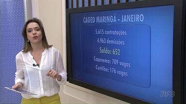 Maringá registra saldo positivo na geração de empregos em Janeiro - Foi o segundo melhor resultado do Estado