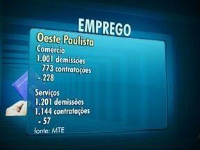 Janeiro registra saldo negativo no emprego formal no Oeste Paulista - Houve mais demissões do que contratações na região de Presidente Prudente.