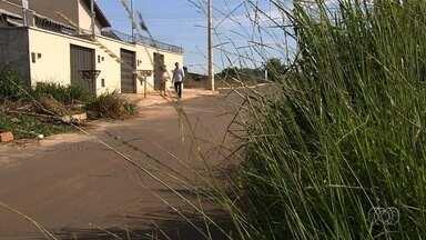 Moradores reclamam de mato alto e entulho acumulado no Setor das Nações Extenção, em Goiás - Reportagem foi até o local para apurar a situação.