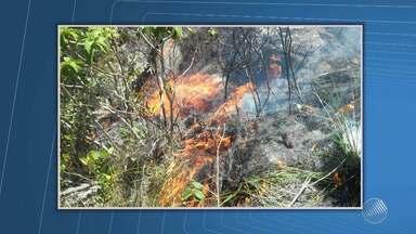 Incêndio que atinge a Serra das Almas, em Rio de Contas, chega às nascentes de alguns rios - Já em Praia do Forte, no litoral norte, brigadistas conseguiram controlar o fogo numa reserva natural.