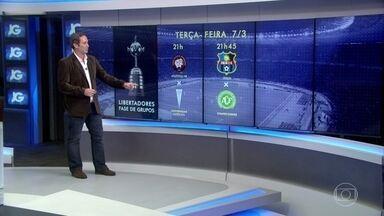 Fase de grupos da Libertadores começa nesta terça-feira (7) - Oito clubes brasileiros participam da fase de grupos da Taça Libertadores. Sete times já jogam nesta semana.