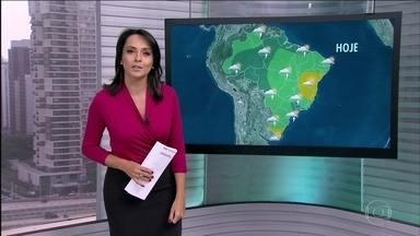 Veja a previsão do tempo para esta terça-feira (7) - A chuva deve atingir a região Norte, Maranhão, Ceará e parte do Sudeste. O dia fica instável em São Paulo; há abertura de sol, mas com bastante nebulosidade.