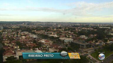 Confira a previsão do tempo para esta quarta-feira (8) na região de Ribeirão Preto, SP - Meteorologistas preveem temperatura máxima de 32ºC, com possibilidade de pancadas de chuva no fim da tarde e à noite.