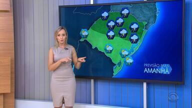 Tempo: sexta-feira (10) tem risco de temporal no RS - Chuva deve ser volumosa em várias áreas do estado.