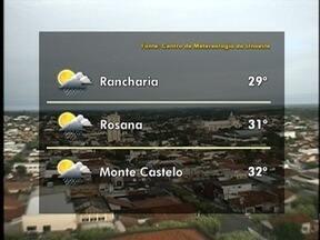 Meteorologia prevê tempo instável no Oeste Paulista - Veja como ficam as temperaturas em algumas cidades.