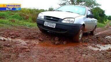 Moradores reclamam das condições das estradas rurais em Santa Rosa - Prefeitura estima que metade das estradas rurais precisam de reparos.