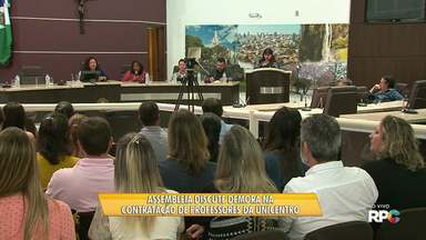 Audiência Pública discute demora na contratação de professores da Unicentro - Professores realizam a audiência na Câmara de Vereadores pra discutir e cobrar uma solução.