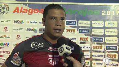 Juliano, goleiro do CRB, comenta o empate contra o Santa Rita - Goleiro do Galo destaca a importância de não sofrer gol