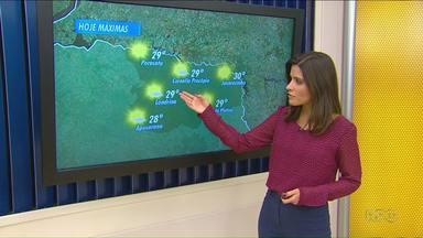 Previsão de tempo firme no norte do estado - Segundo a meteorologia, não há previsão de chuva até o final da semana.