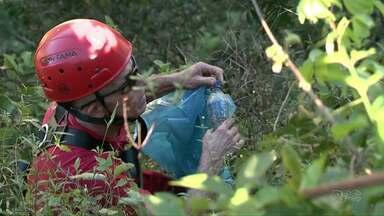 Voluntários fazem uma faxina no Parque Nacional do Iguaçu - De acordo com a direção foram recolhidos mais de quatrocentos quilos de lixo.