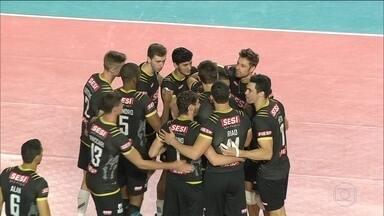 SESI vence o Minas por 3 a 1 no segundo jogo da série de quartas de final da Superliga - O time paulista precisa de mais uma vitória para se classificar para as semifinais da competição.