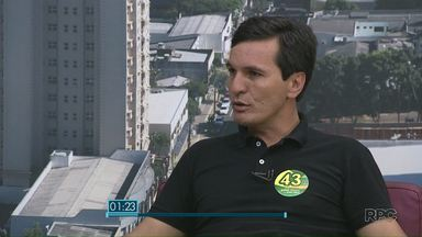 Paraná TV entrevista o candidato a prefeito Irineu Ribeiro - Ele é o quarto entrevistado da série