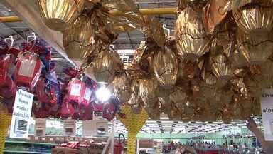Procon divulga pesquisa de preços dos ovos de Páscoa em Guarapuava - Tem ovo que fica até 20 reais mais caro de um mercado para outro.
