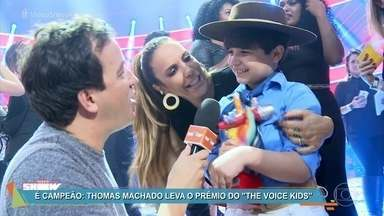 Rafael Cortez mostra os bastidores da final do 'The Voice Kids' - O gauchinho Thomas Machado, de 9 anos, foi o grande campeão da segunda temporada do reality
