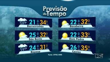 Veja a previsão do tempo no Maranhão - Quarta-feira (5) terá dia com variação de nuvens e possibilidade de chuva rápida na maior parte do estado.