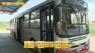 Tarifa do transporte público de Gaspar fica cinco centavos mais barata - Tarifa do transporte público de Gaspar fica cinco centavos mais barata