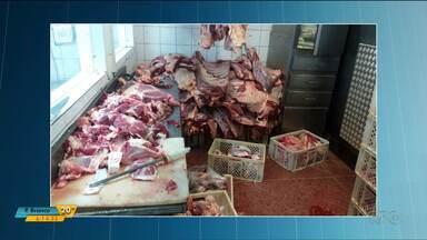 Dono de mercado é preso por receptação de carne roubada - A carga de 17 toneladas de carne havia sido roubada em São José dos Pinhais.