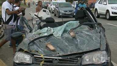 Acidente envolvendo um carro deixa uma pessoa morta em São Luís - Segundo informações da polícia, a motorista do veículo causador do acidente, perdeu o controle do carro e atingiu outro carro que estava em sentido contrário.
