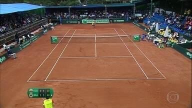Já classificado na Copa Davis, Brasil vence mais duas na série sobre o Equador - Brasil se classificou para uma vaga na repescagem por uma posto na elite do tênis.