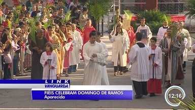 Milhares de fiéis celebraram o domingo de Ramos em Aparecida - Agora é um período de devoção e reflexão.