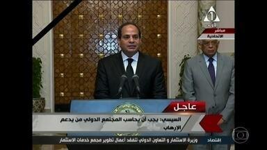 Governo egípcio declara estado de emergência depois de ataques do Estado Islâmico - O homem forte do país, o general Abdel Fatah Al-Sisi mobilizou militares para proteção de centros vitais.