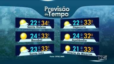 Confira a previsão do tempo no Maranhão - Segundo a meteorologia, a terça-feira (11) será com possibilidade de chuva rápida e sol entre nuvens em quase todas as regiões maranhenses.