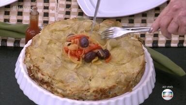 Torta Mil Folhas de Bacalhau - Prato é uma ótica dica para o almoço de Páscoa!