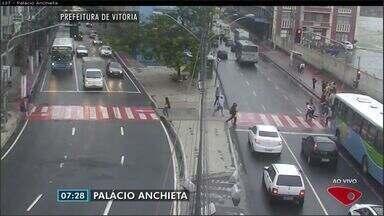 Confira as imagens do trânsito na Grande Vitória na manhã desta quinta-feira (13) - Câmeras mostram as principais vias da região.