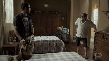 Abel repreende Zeca por pensar em se vingar de Ruy - Nazaré interrompe discussão entre pai e filho
